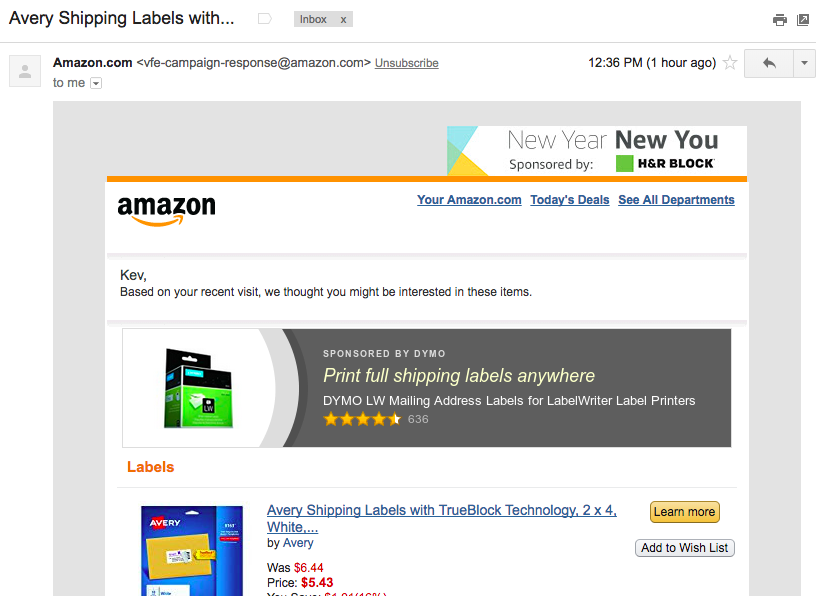 Amazon's Newsletter